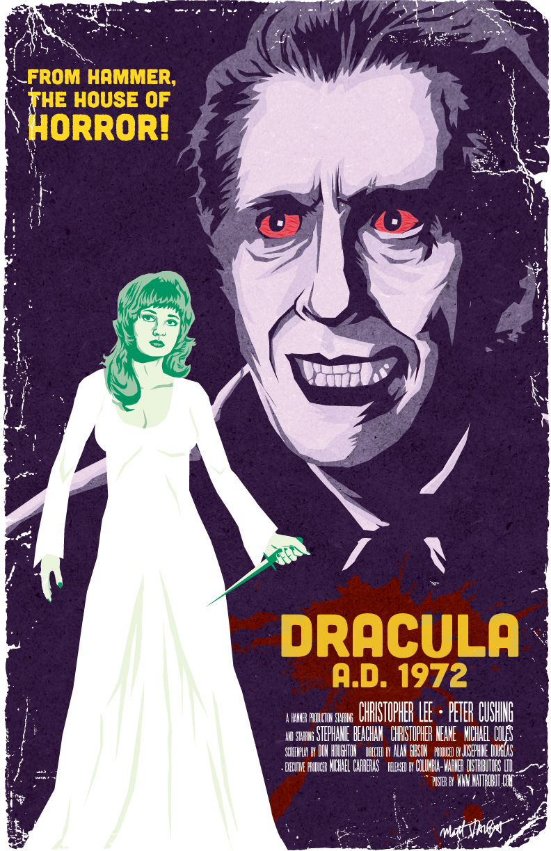Hammer's Dracula '72 Poster by Matt Talbot