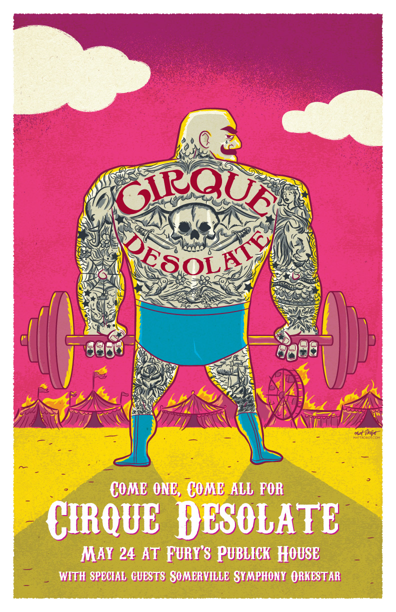 Cirque Desolate gig poster by Matt Talbot