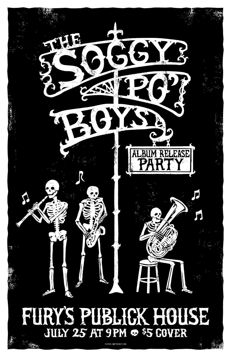 Soggy Po Boys gig poster by Matt Talbot