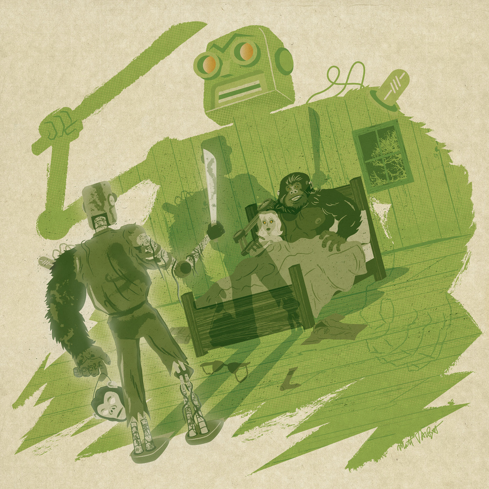 robotmonkeyarm album cover by Matt Talbot