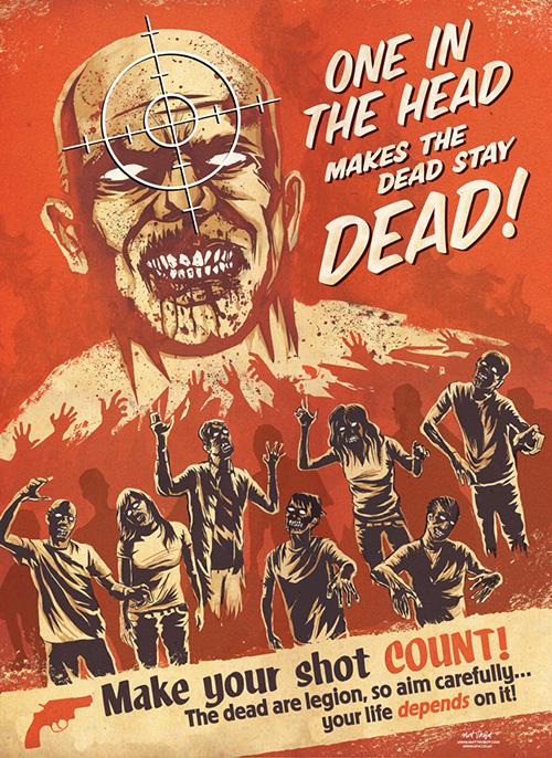 Zombie Propaganda poster for SFX Magazine