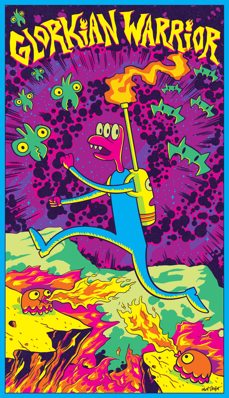 Glorkian Warrior blacklight poster
