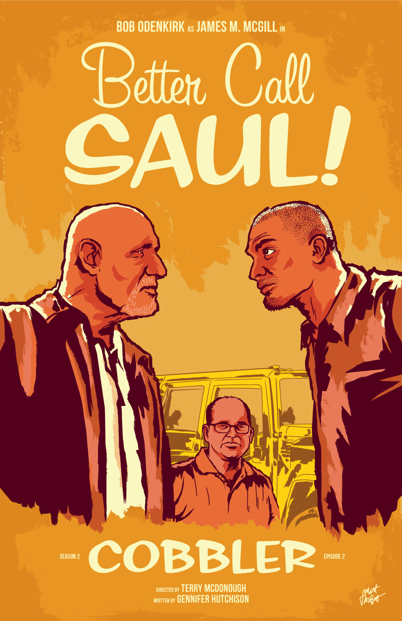 Better Caul Saul season two, episode 2: Cobbler poster by Matt Talbot