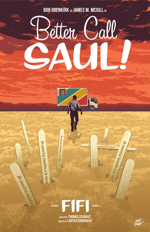 Better Call Saul season 2 episode 8 poster, Fifi, by Matt Talbot