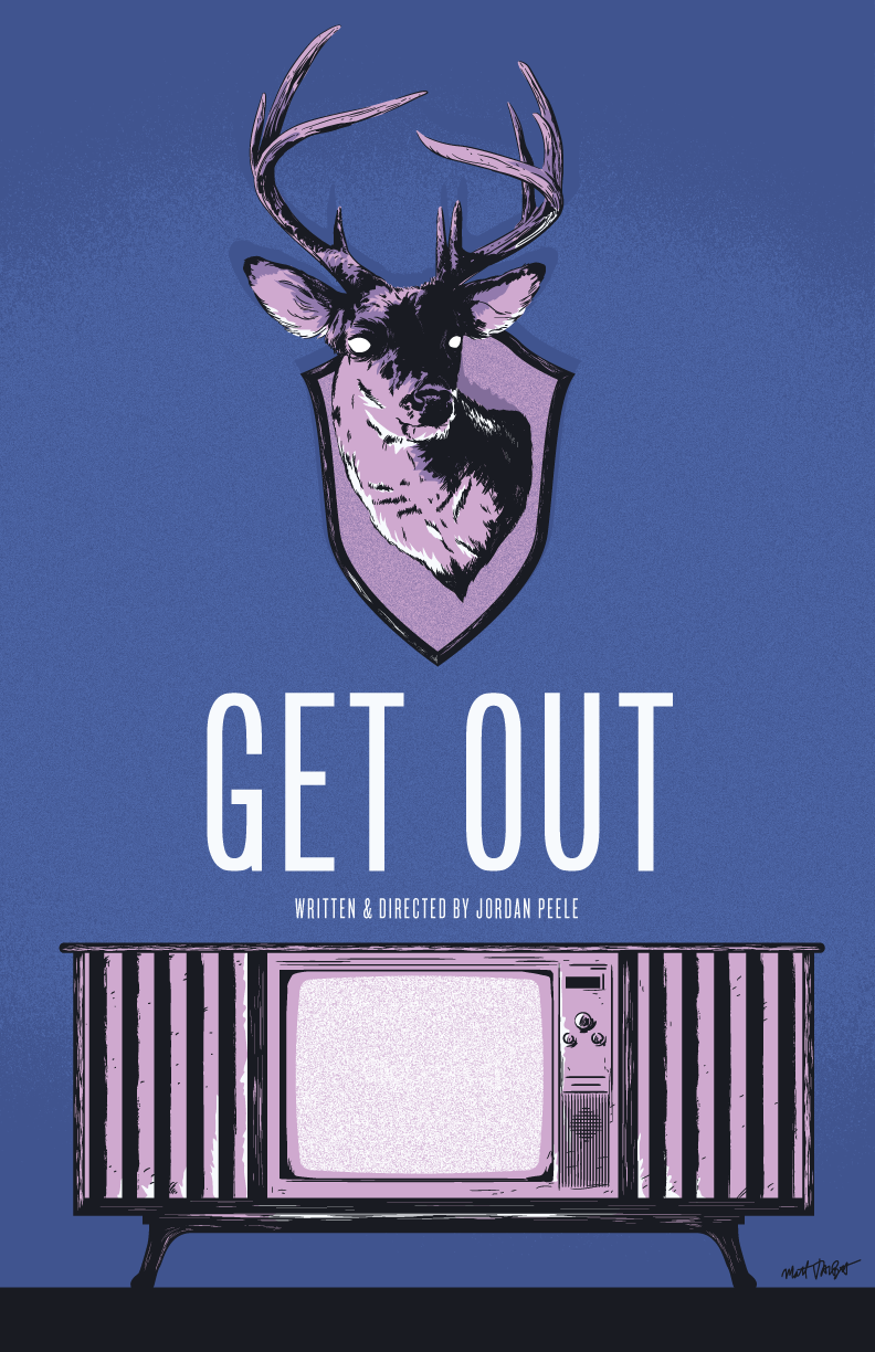 Get Out alternative movie poster by Matt Talbot