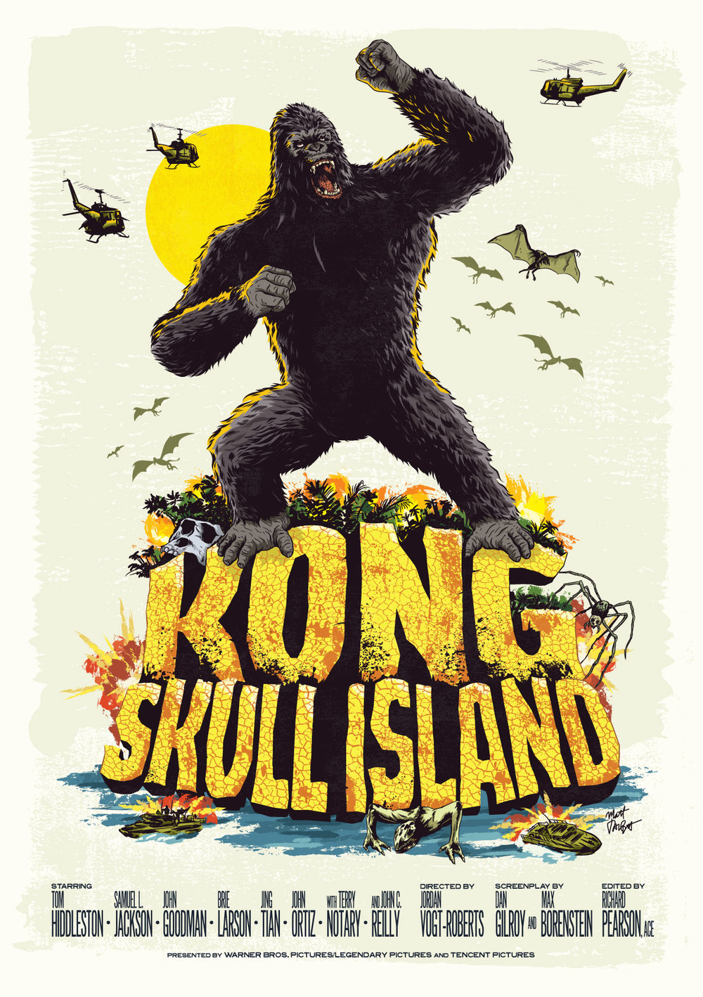 Kong: Skull Island alternative movie poster by Matt Talbot