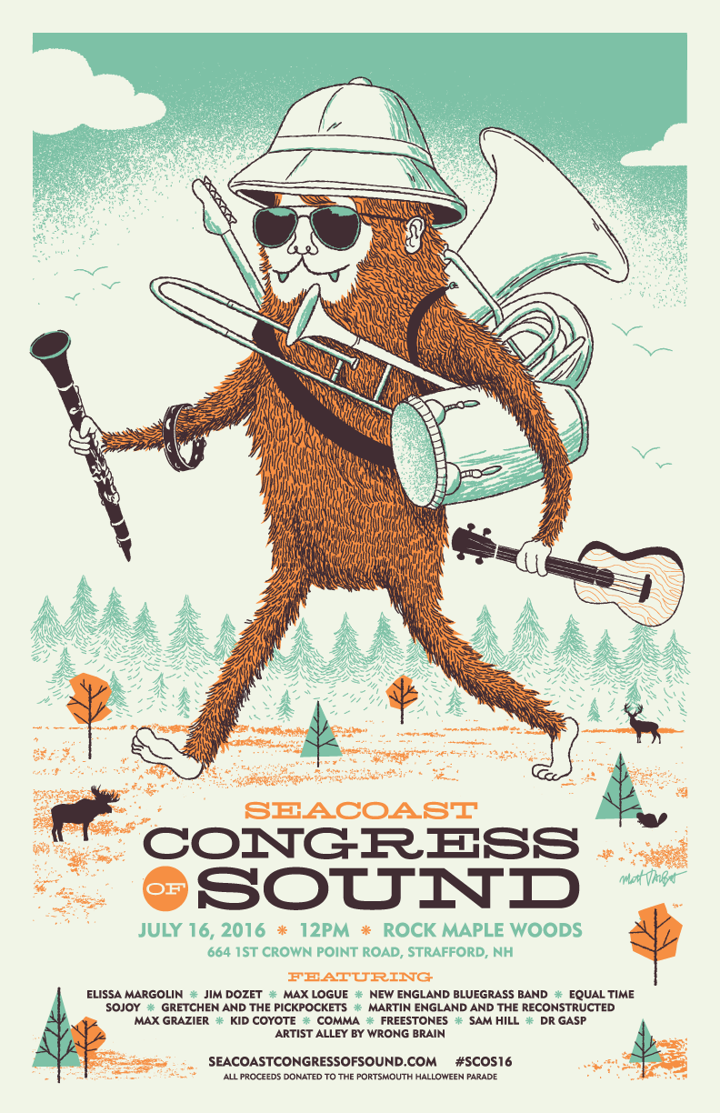 Seacoast Congress of Sound poster by Matt Talbot