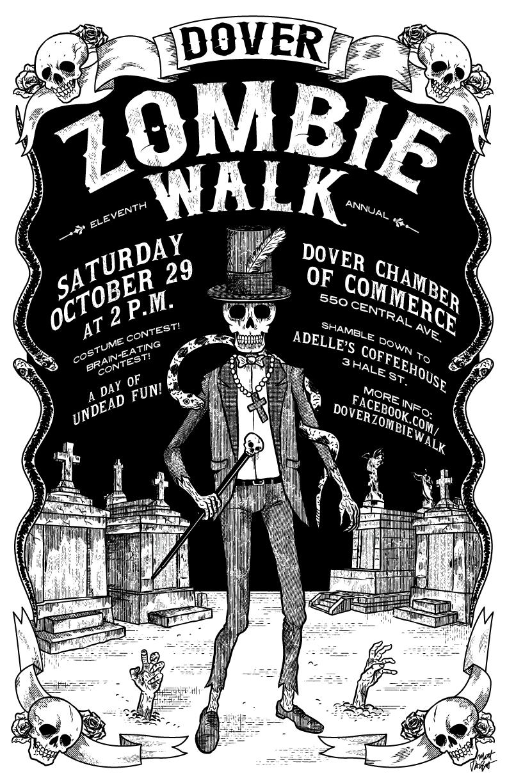 Dover Zombie Walk 2016 poster by Matt Talbot