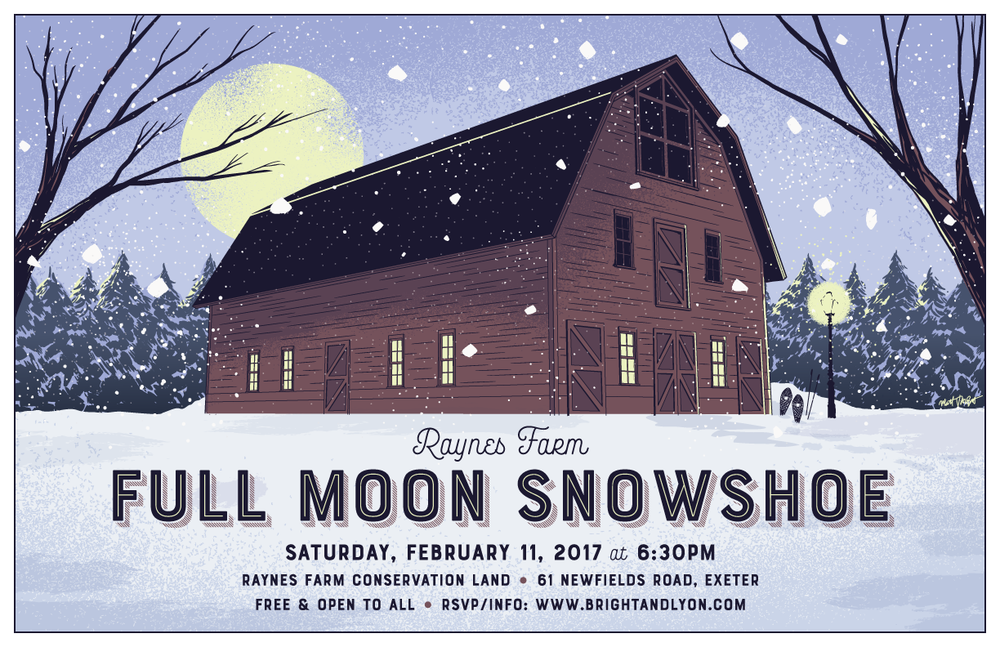 Full Moon Snowshoe poster by Matt Talbot