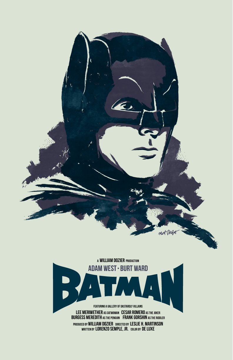 Batman '66 Adam West poster by Matt Talbot