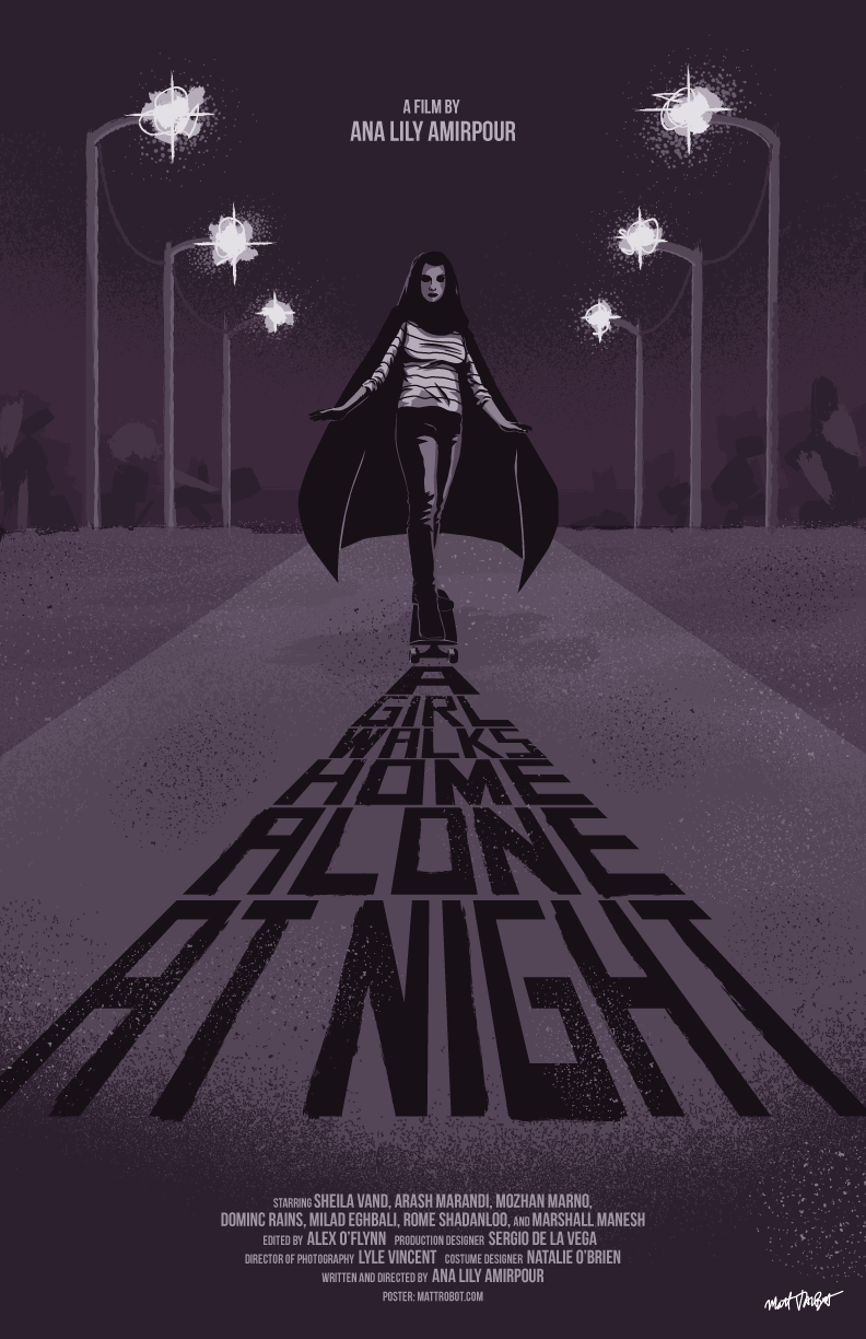 A Girl Walks Home Alone At Night poster by Matt Talbot