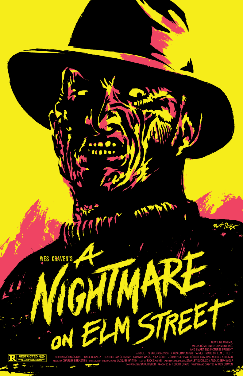 A Nightmare on Elm Street poster by Matt Talbot