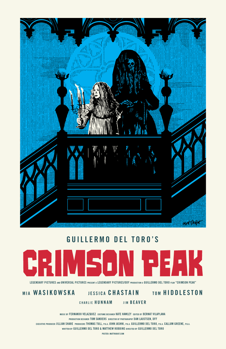 Crimson Peak poster by Matt Talbot