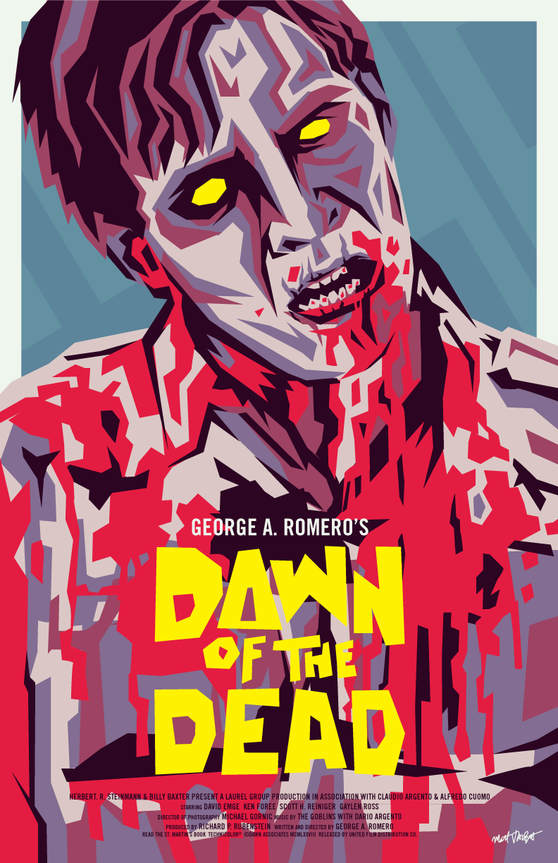Dawn of the Dead poster by Matt Talbot
