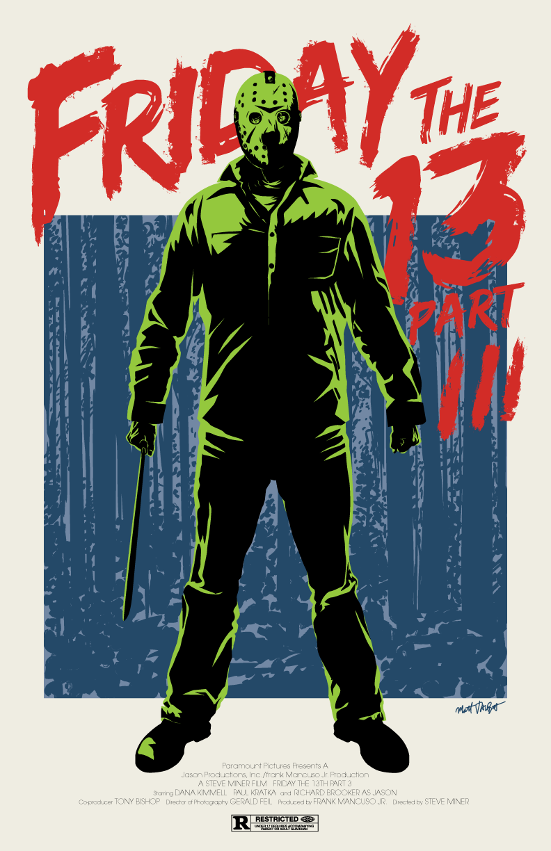 Friday the 13th Part 3 poster by Matt Talbot