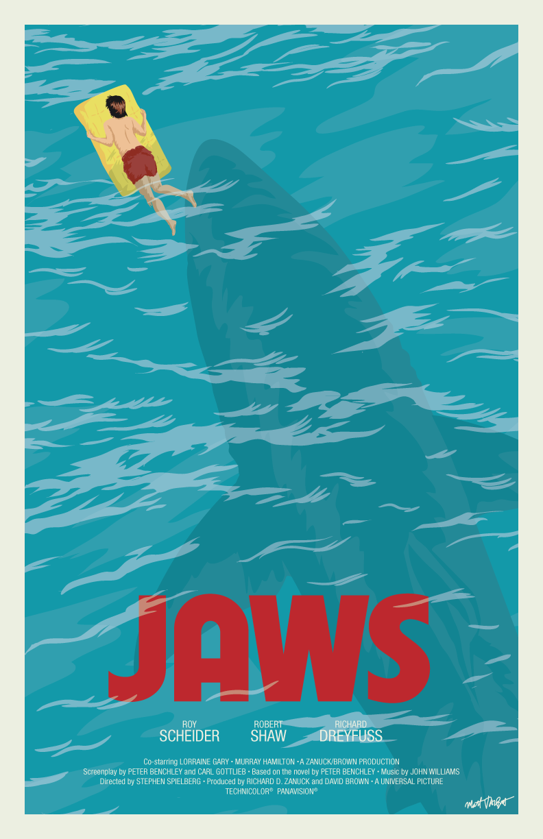 Jaws poster by Matt Talbot
