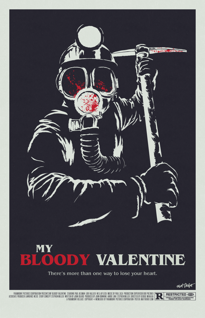 My Bloody Valentine (1981) poster by Matt Talbot