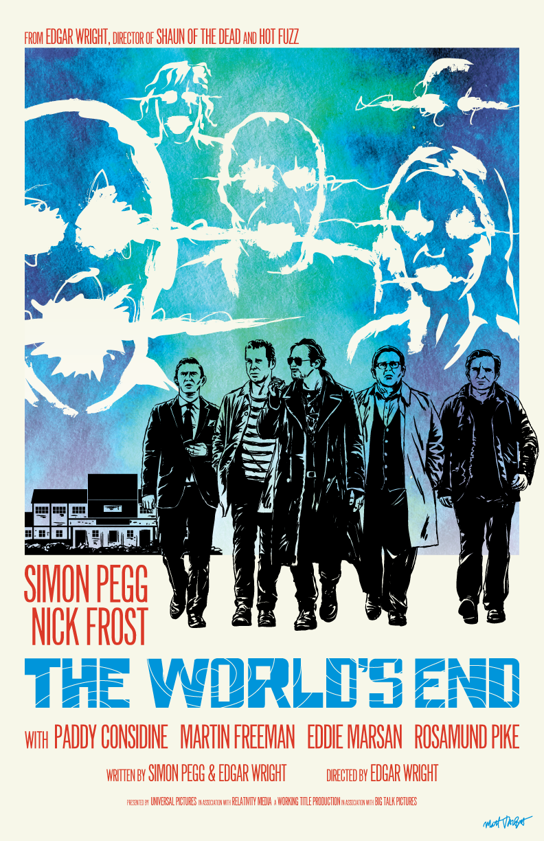 The World's End poster by Matt Talbot