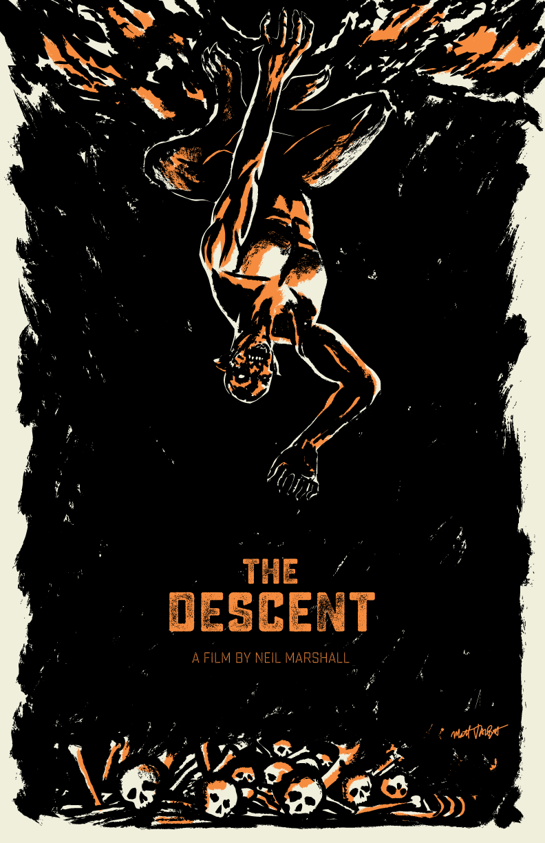 The Descent poster by Matt Talbot