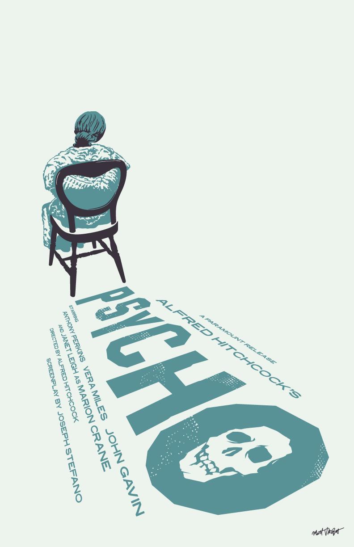 Psycho poster by Matt Talbot