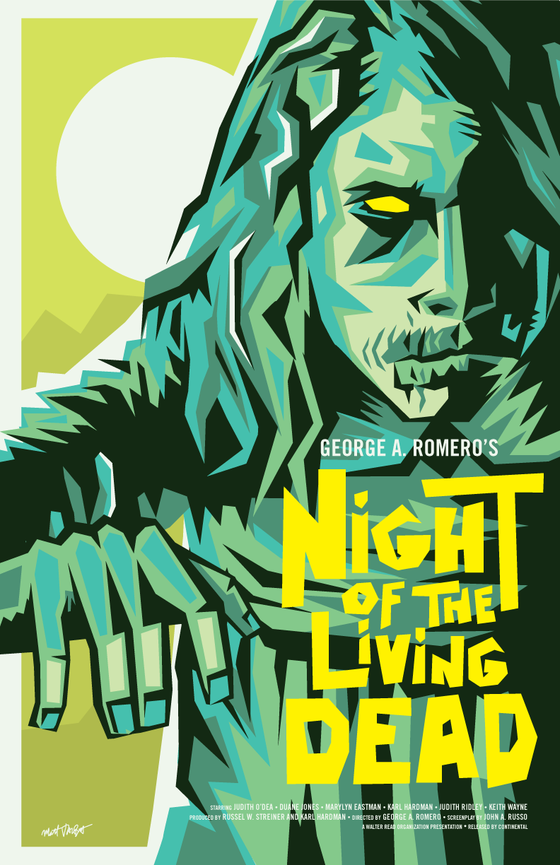 Night of the Living Dead poster by Matt Talbot
