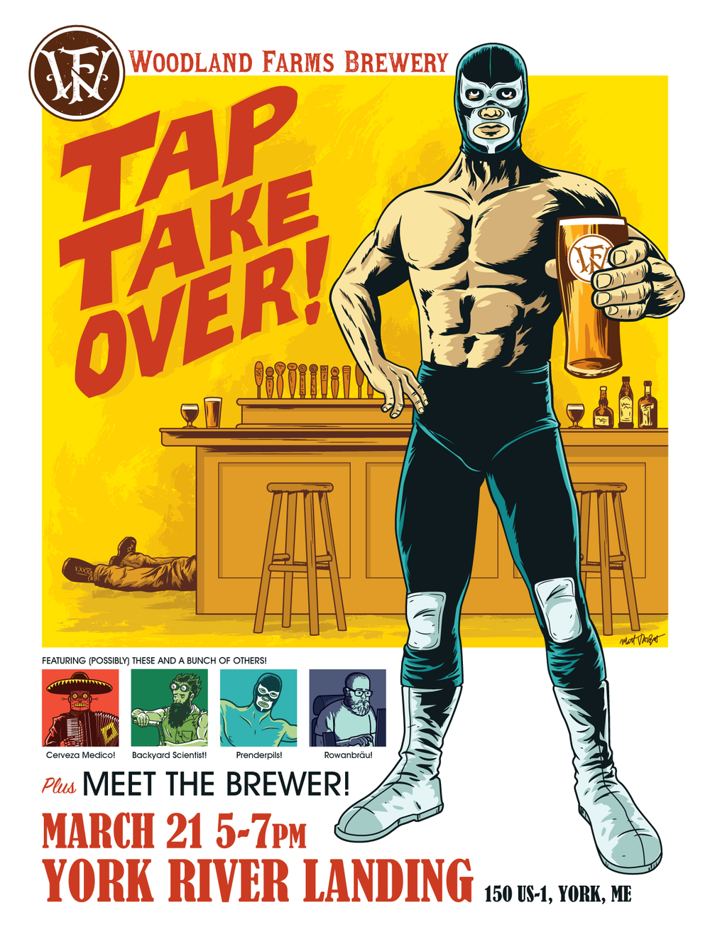 Woodland Farms Brewery Tap Takeover poster by Matt Talbot