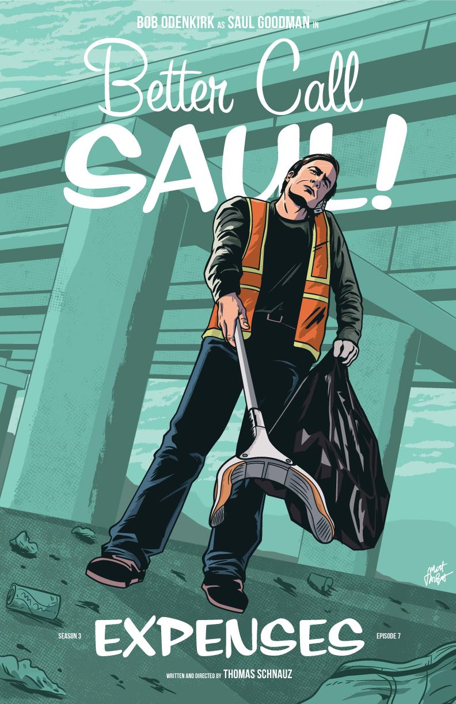 "Better Call Saul episode 307 ""Expenses"" poster by Matt Talbot"