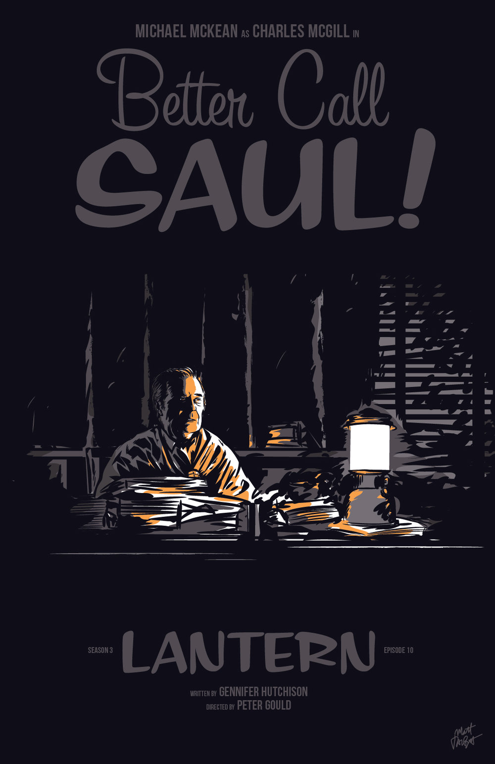 Better Call Saul episode 310, Lantern, poster by Matt Talbot
