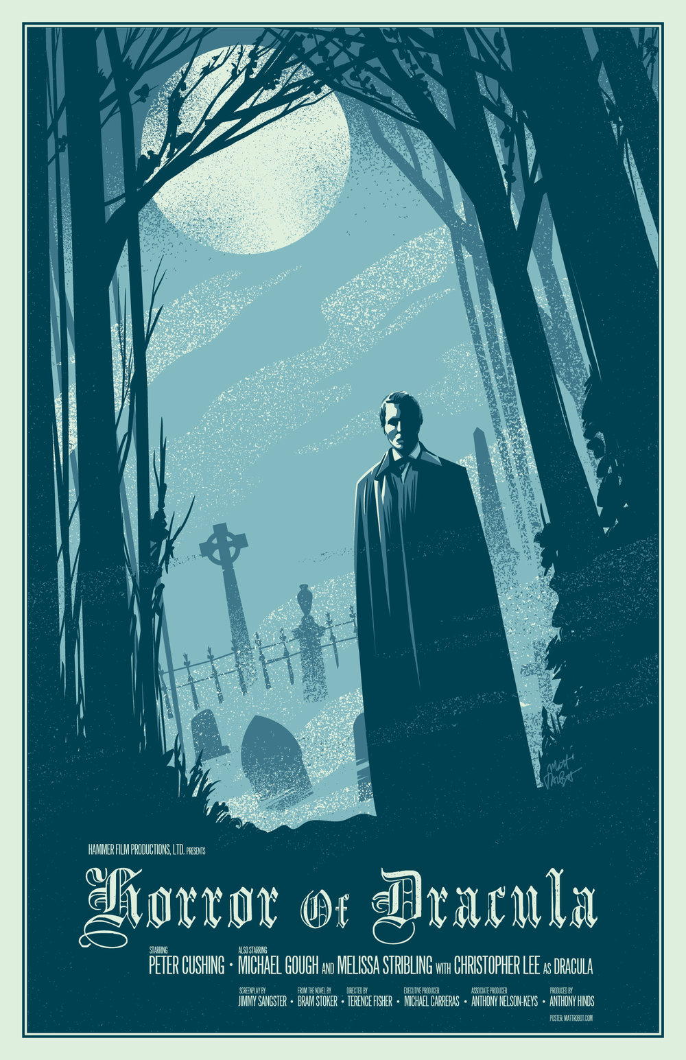 Horror Of Dracula Poster by Matt Talbot