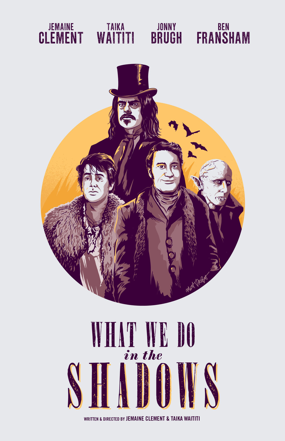 What We Do In The Shadows Poster by Matt Talbot
