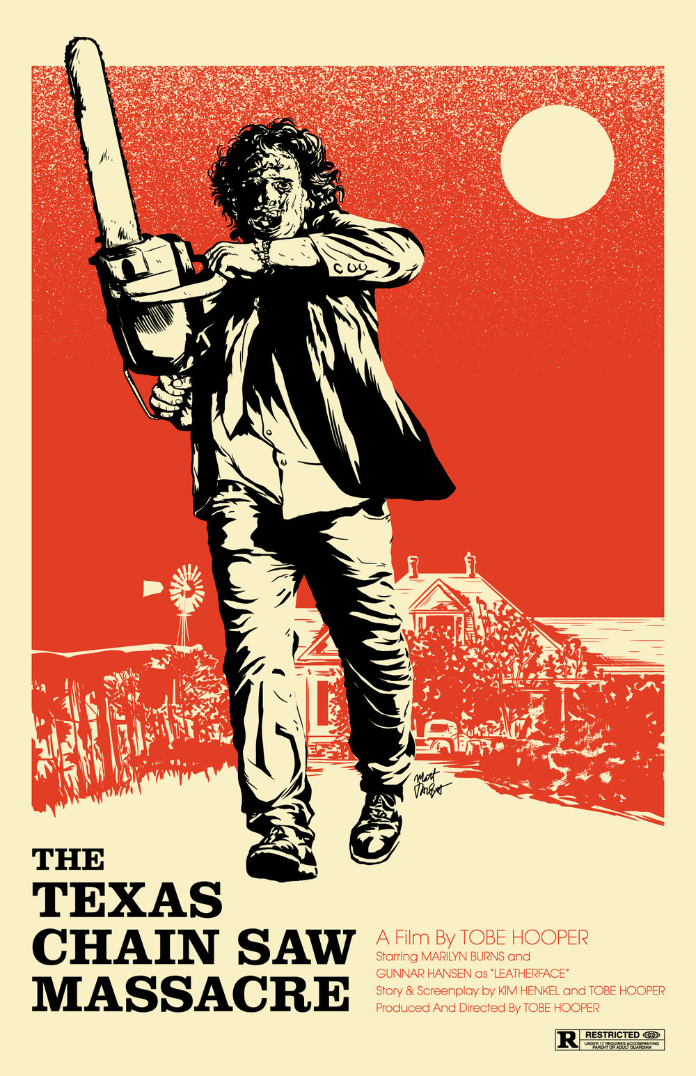 The Texas Chain Saw Massacre Poster by Matt Talbot