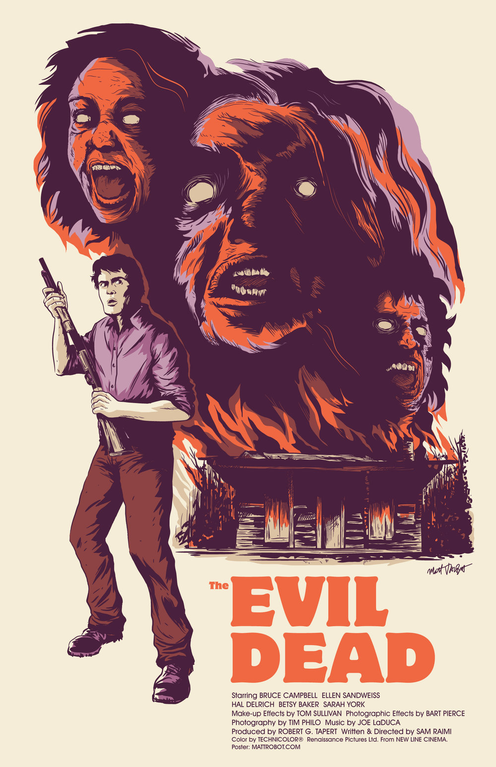 The Evil Dead Poster by Matt Talbot
