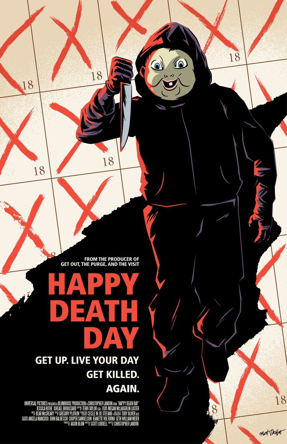 Happy Death Day Poster by Matt Talbot