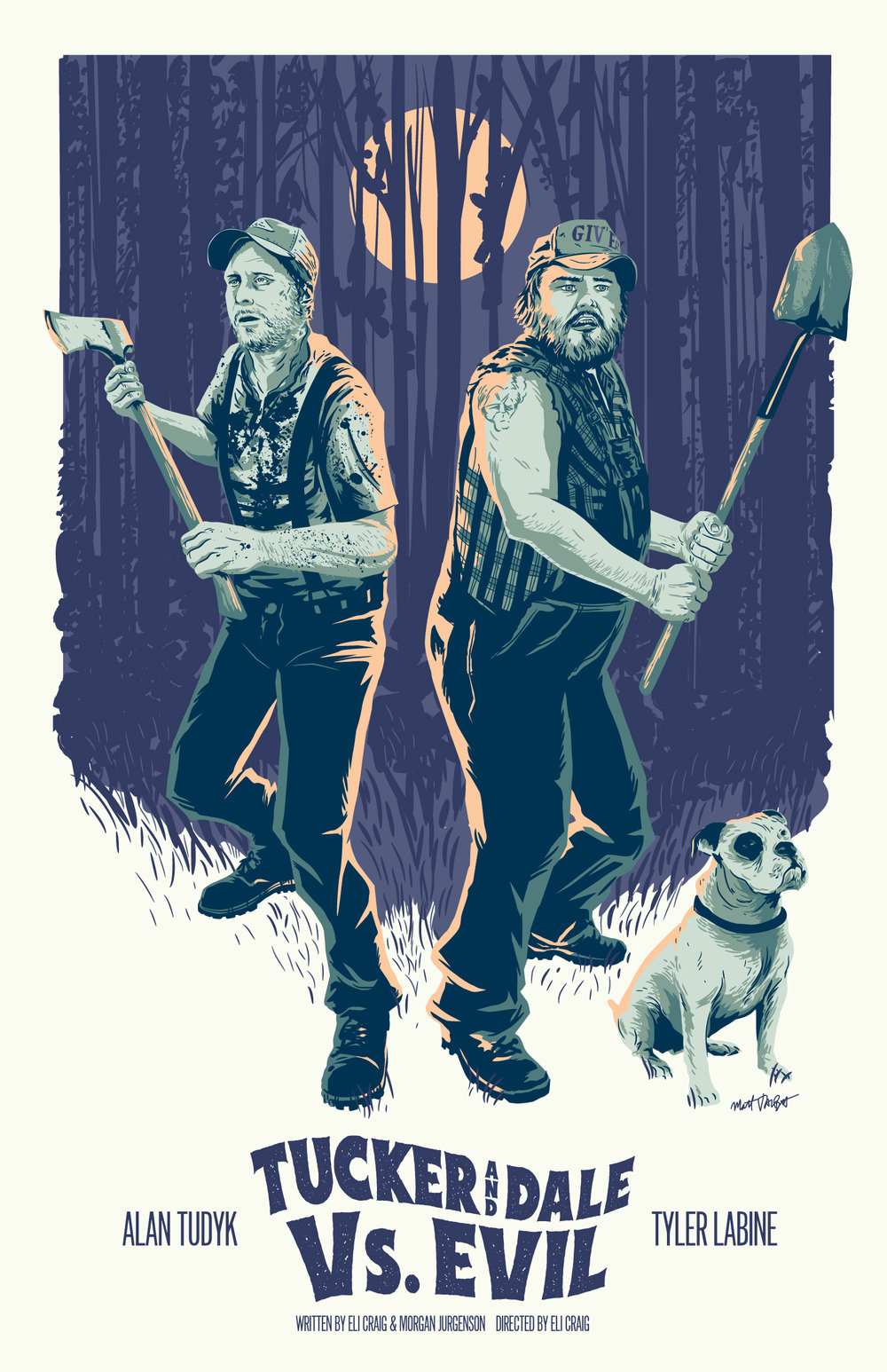 Tucker and Dale vs. Evil poster by Matt Talbot
