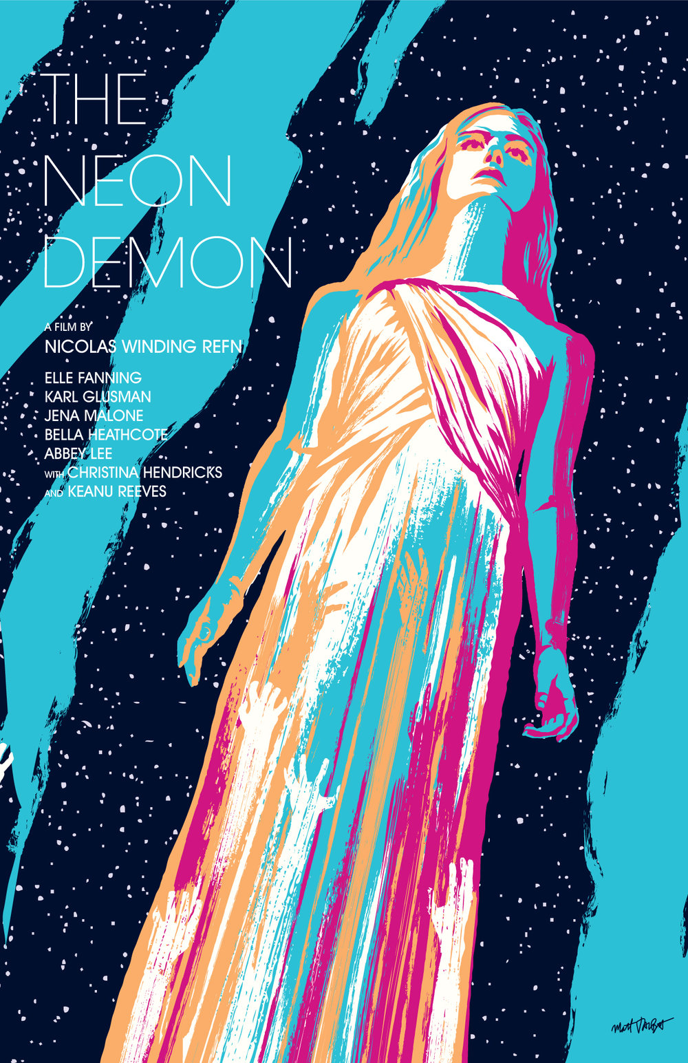The Neon Demon poster by Matt Talbot