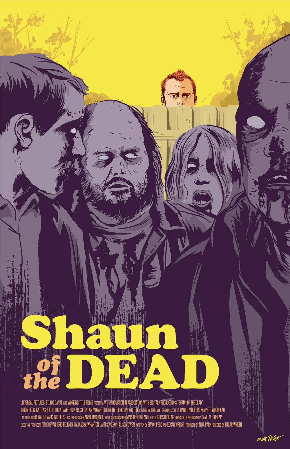 Shaun of the Dead poster by Matt Talbot