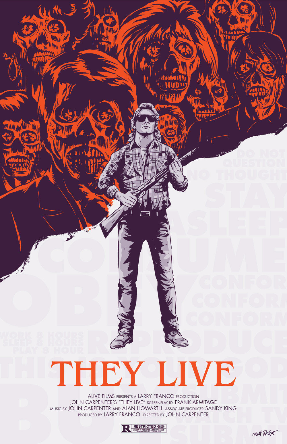 They Live poster by Matt Talbot