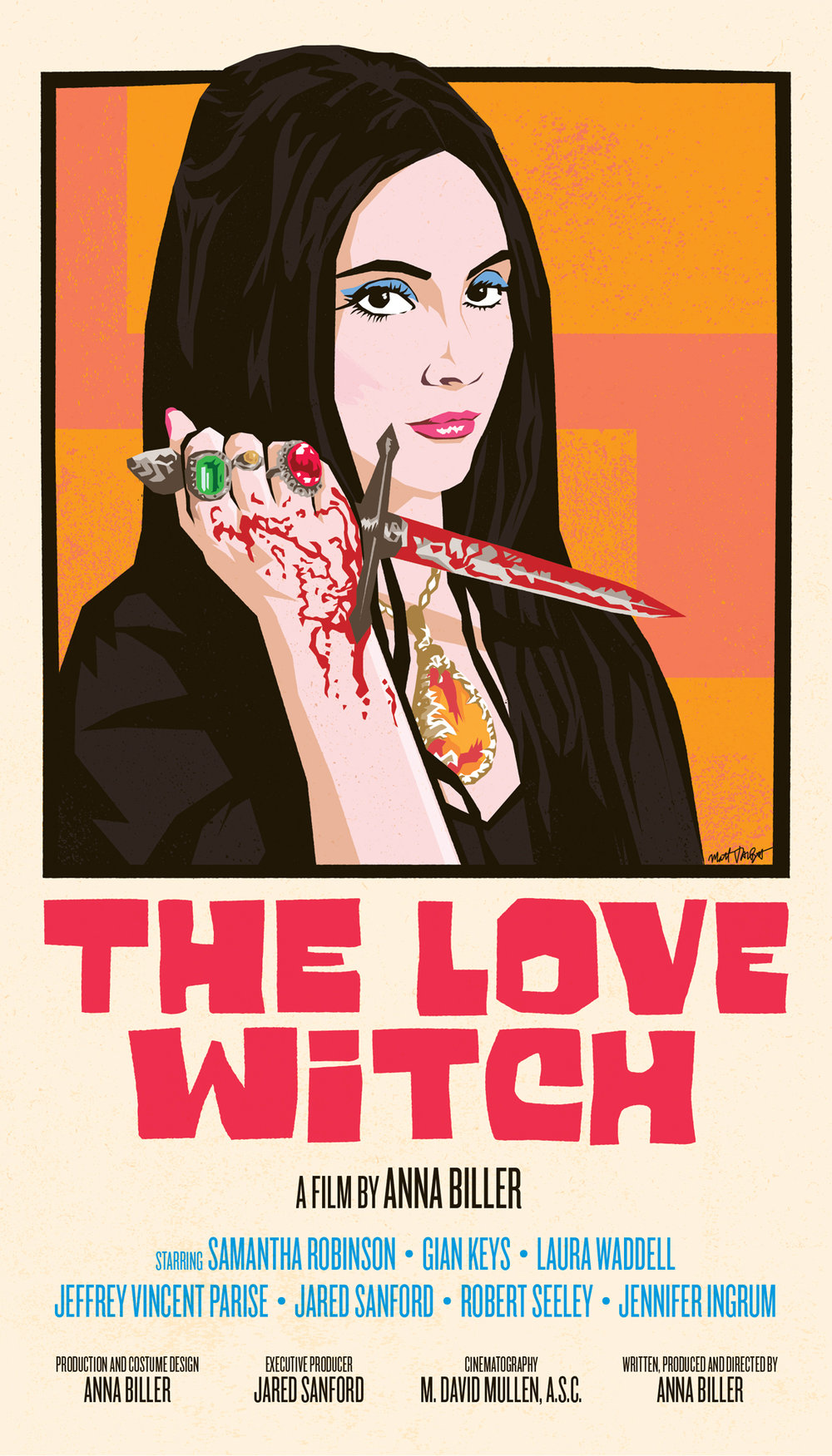 The Love Witch poster by Matt Talbot