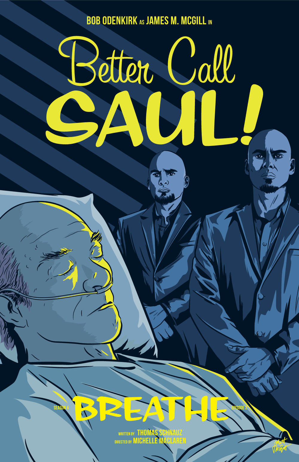Better Call Saul season 4 episode 2 poster, Breathe, by Matt Talbot