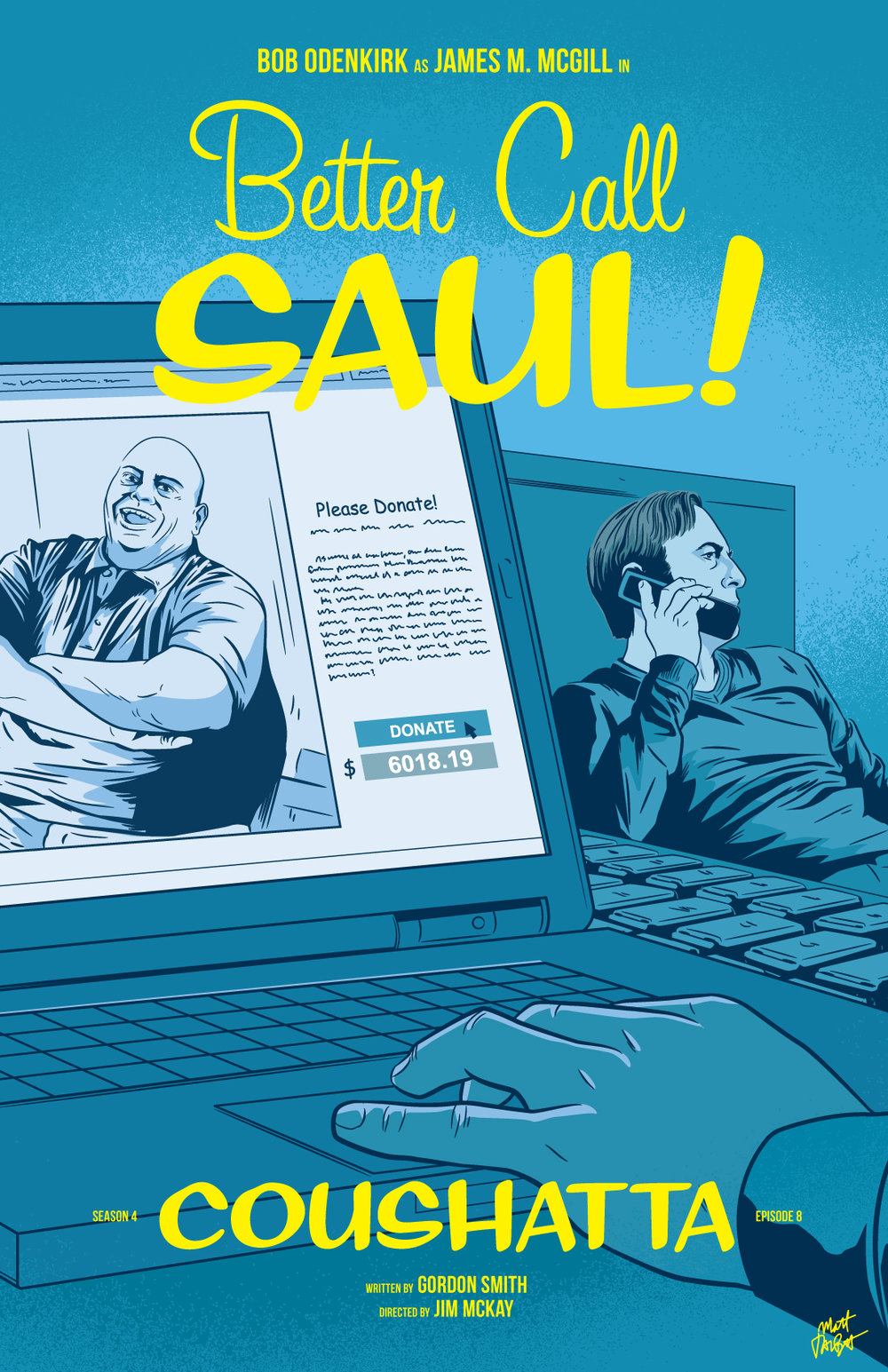 Better Call Saul season 4 episode 8, Coushatta, poster by Matt Talbot