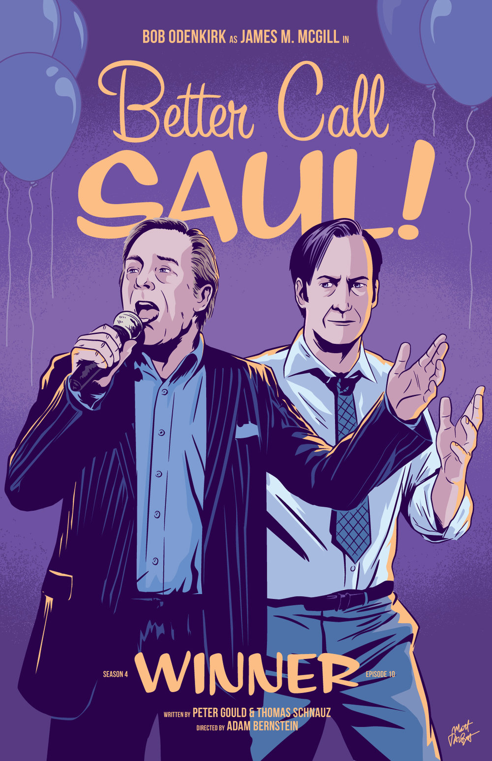 Better Call Saul season 4 episode 10, Winner, Poster by Matt Talbot