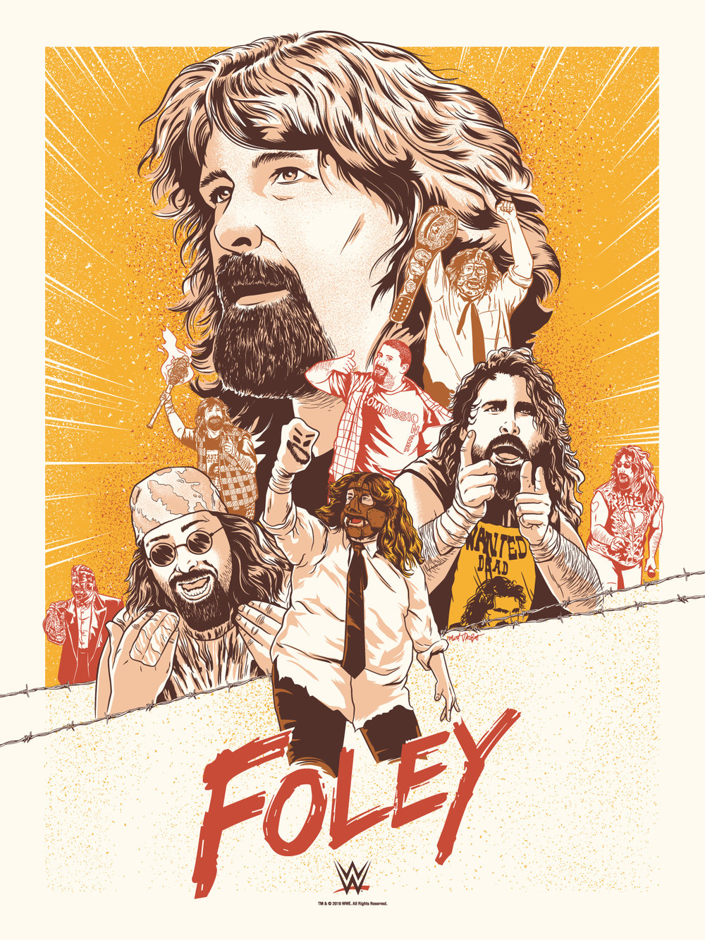 Tribute to Mick Foley - WWE Art Show at Gallery 1988 by Matt Talbot