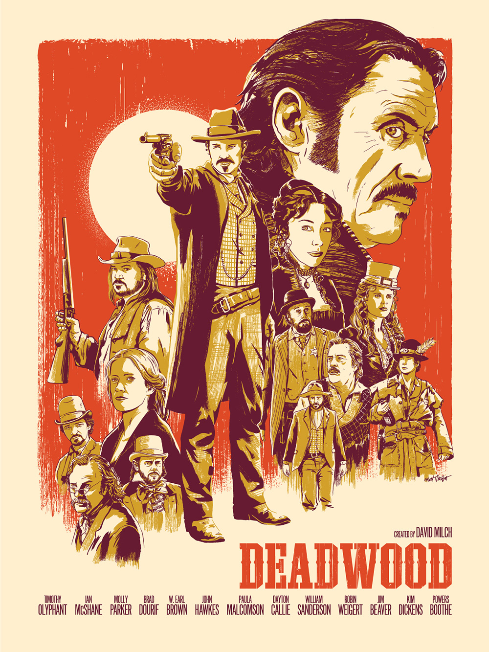 Deadwood print by Matt Talbot for Gallery 1988