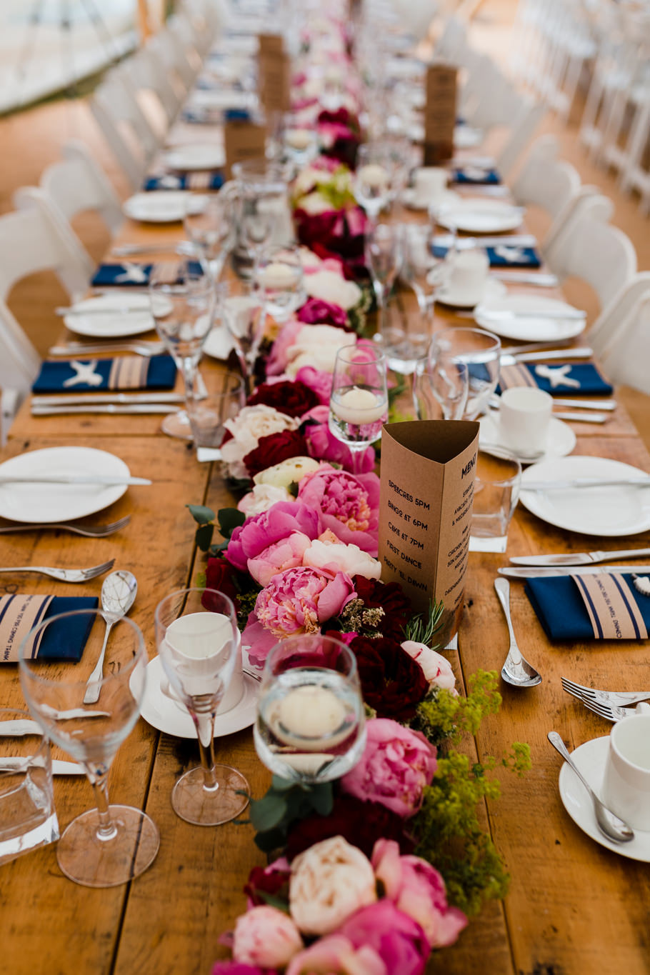 Peony table centres