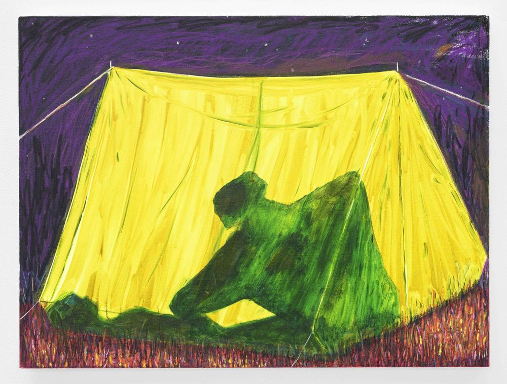 Sex in a Tent  Oil and Acrylic on Cotton  60 x 80 cm  2015
