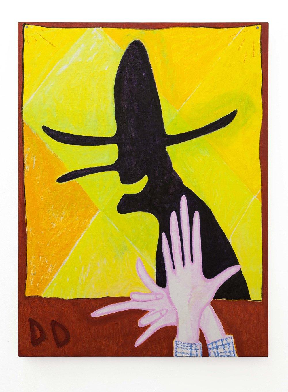 The Nightman  100 x 75 cm  Oil on Cotton
