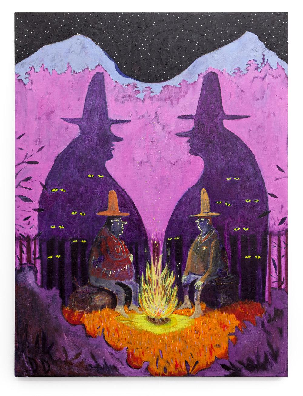 Tall Tales  Oil on Flax  150 x 200 cm  2016