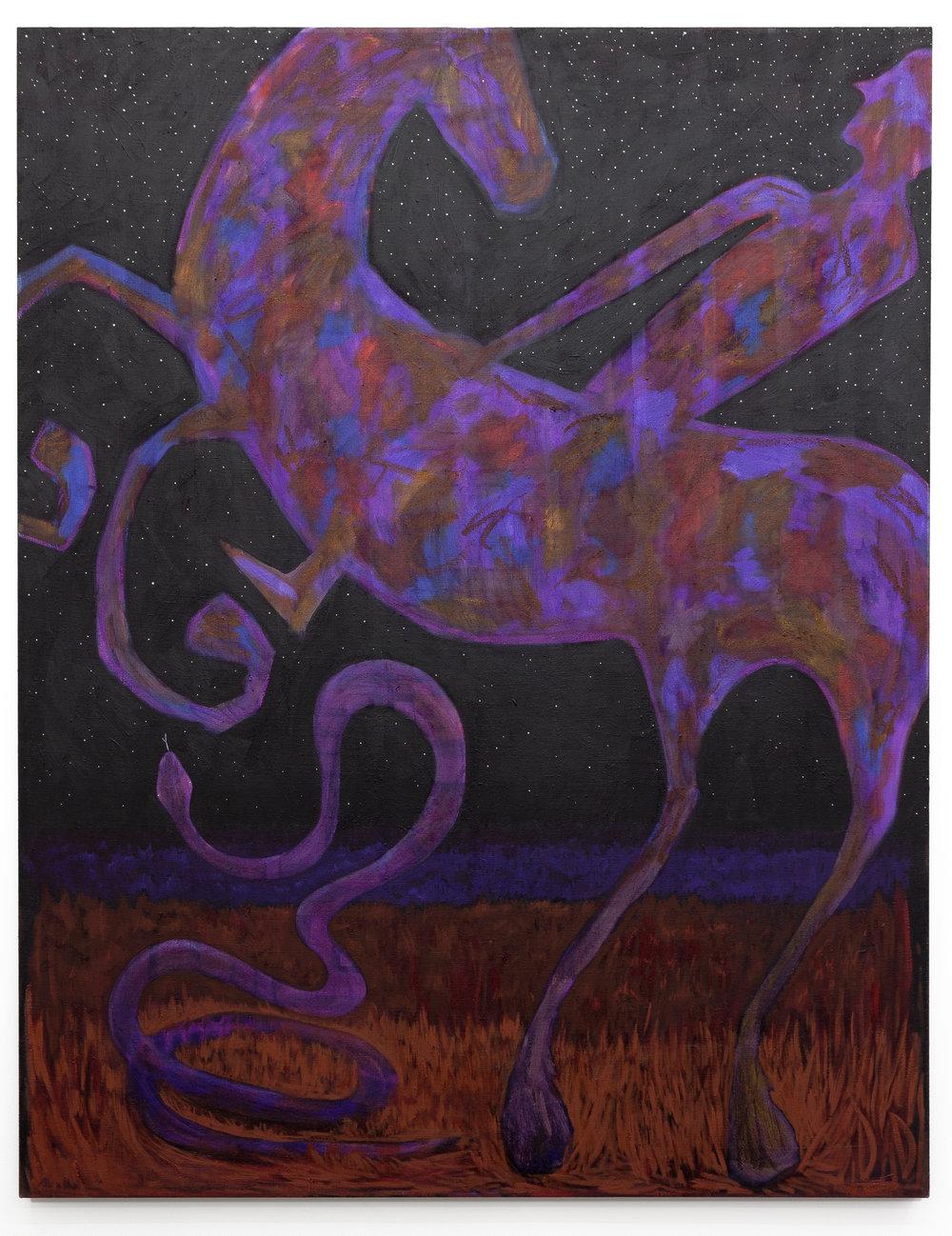 Snake on a Plain  Oil on Flax  170 x 220 cm  2016