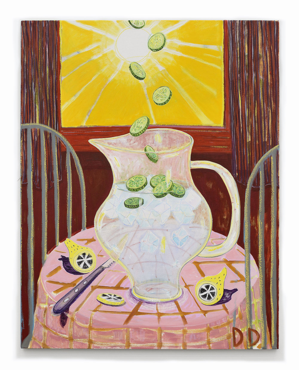 Cucumber Water  Oil on Flax  110 x 140 cm