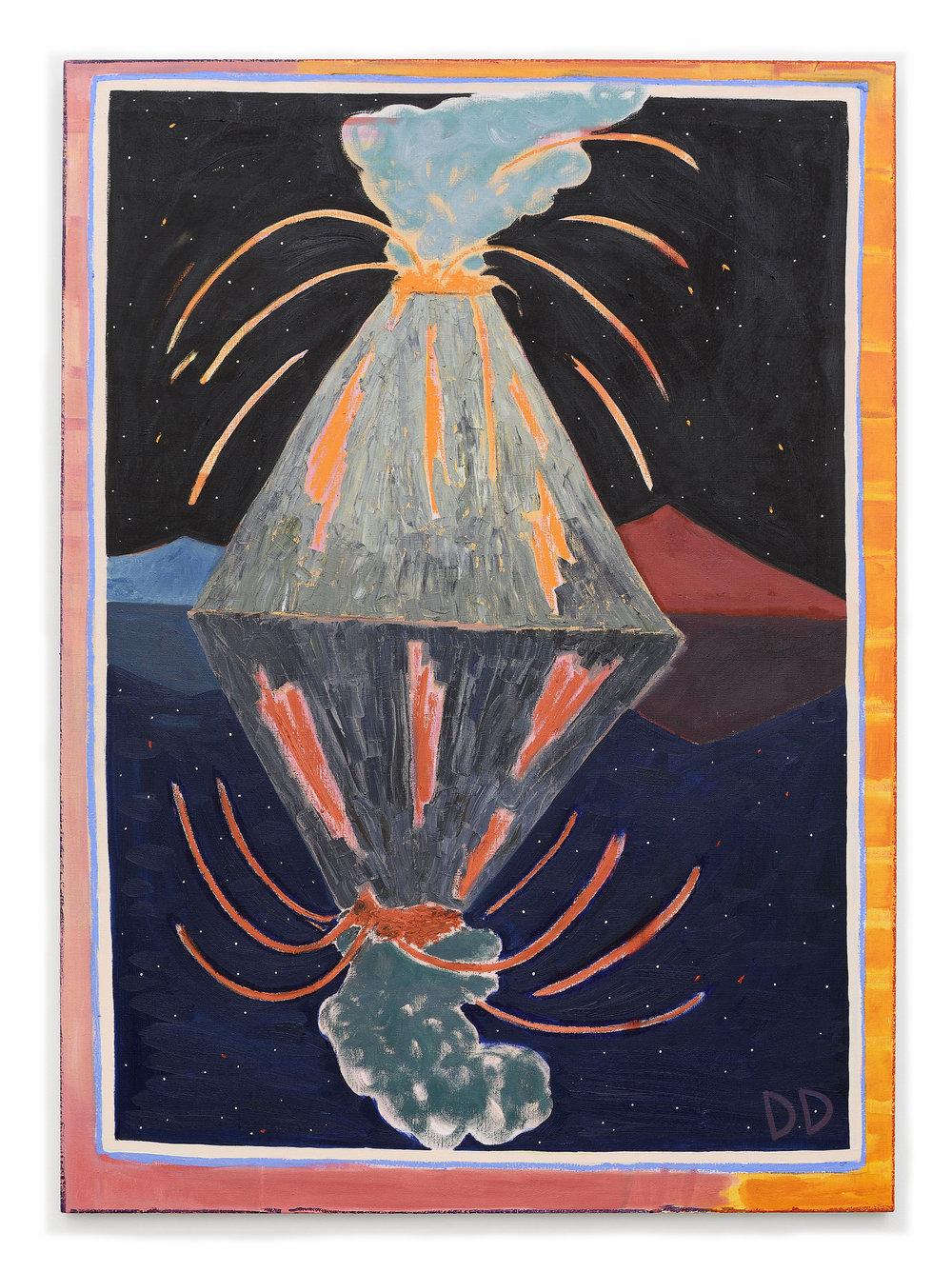 Underwater Cinder Cone  Oil on Flax  130 x 180 cm